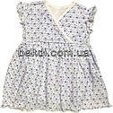 Дитяче літнє плаття ріст 68 3-6 міс трикотажне біле на дівчинку з коротким рукавом для новонароджених малюків, фото 2