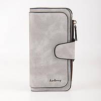 Портмоне Baellerry FOREVER Светло-серый | Жіночий гаманець сірий