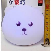 Ночник силиконовый Мишка UTM (работает от сети, имеет акамулятор) | Нічник силіконовий дитячий Ведмедик