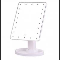 Сенсорное настольное зеркало для макияжа UTM Magic Makeup с 22 LED подсветкой White | Сенсорне дзеркало