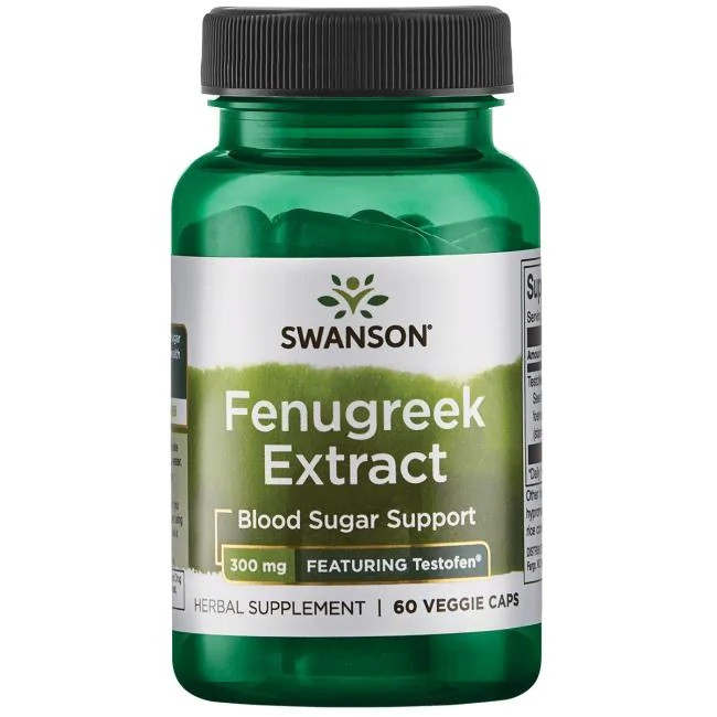 Swanson Ultra Fenugreek Extract - Featuring Testofen Фенугрек, стандартизований 50% екстракт 300 мг (60 капс
