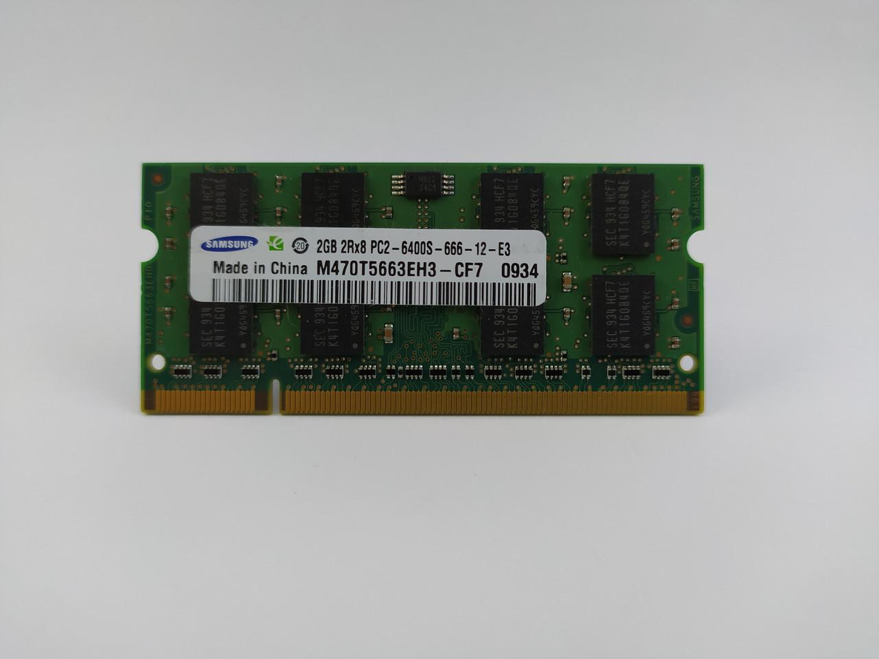 Оперативная память для ноутбука SODIMM Samsung DDR2 2Gb 800MHz PC2-6400S (M470T5663EH3-CF7) Б/У