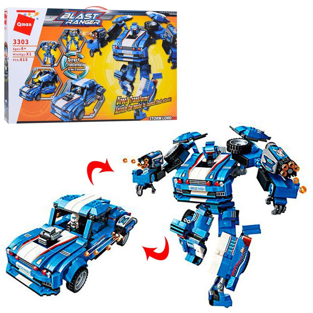 Конструктор Qman 3303 Трансформер (робот+машинка), 815 деталей