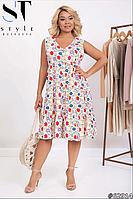 Летнее платье без рукав размеры: 50-52, 54-56, 58-60