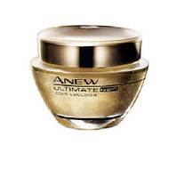Золотая Омолаживающая ночная эмульсия для лица, 45+  Avon  Anew  Ultimate  75 мл