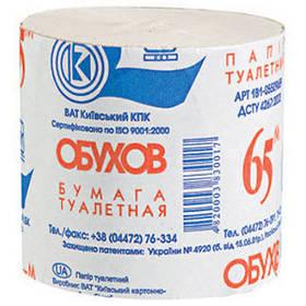 """Туалетная бумага """"Обухов"""" 65 м (не более 10 шт в заказе)"""