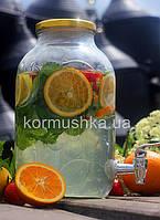 Лимонадница 5л с металлической крышкой