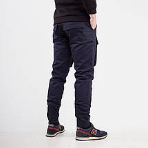 Теплые штаны карго на флисе мужские темно-синие бренд ТУР модель Один (Odin) размер S, M, L, XL, XXL, фото 2