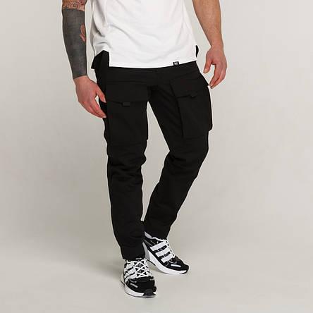 Зимние штаны карго на флисе мужские черные бренд ТУР модель Один (Odin), фото 2