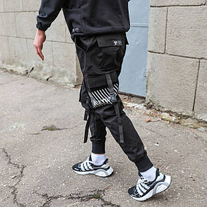Карго штаны подростковые черные, от бренда ТУР модель Ёсида (Yoshida) Рост 140см - 188см., фото 2
