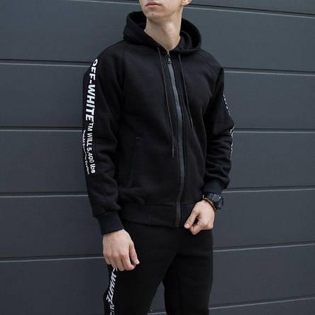 Спортивный мужской костюм черный Off White (Офф Вайт), фото 2