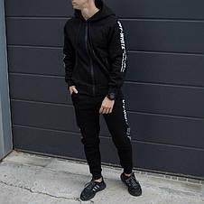 Спортивный мужской костюм черный Off White (Офф Вайт), фото 3