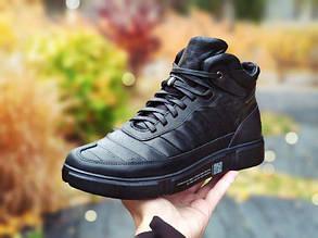 Зимние ботинки кожаные мужские черные SURREY. Размер 40-45
