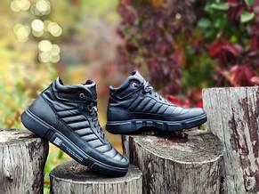 Зимние ботинки кожаные мужские черные SURREY. Размер 40-45, фото 3