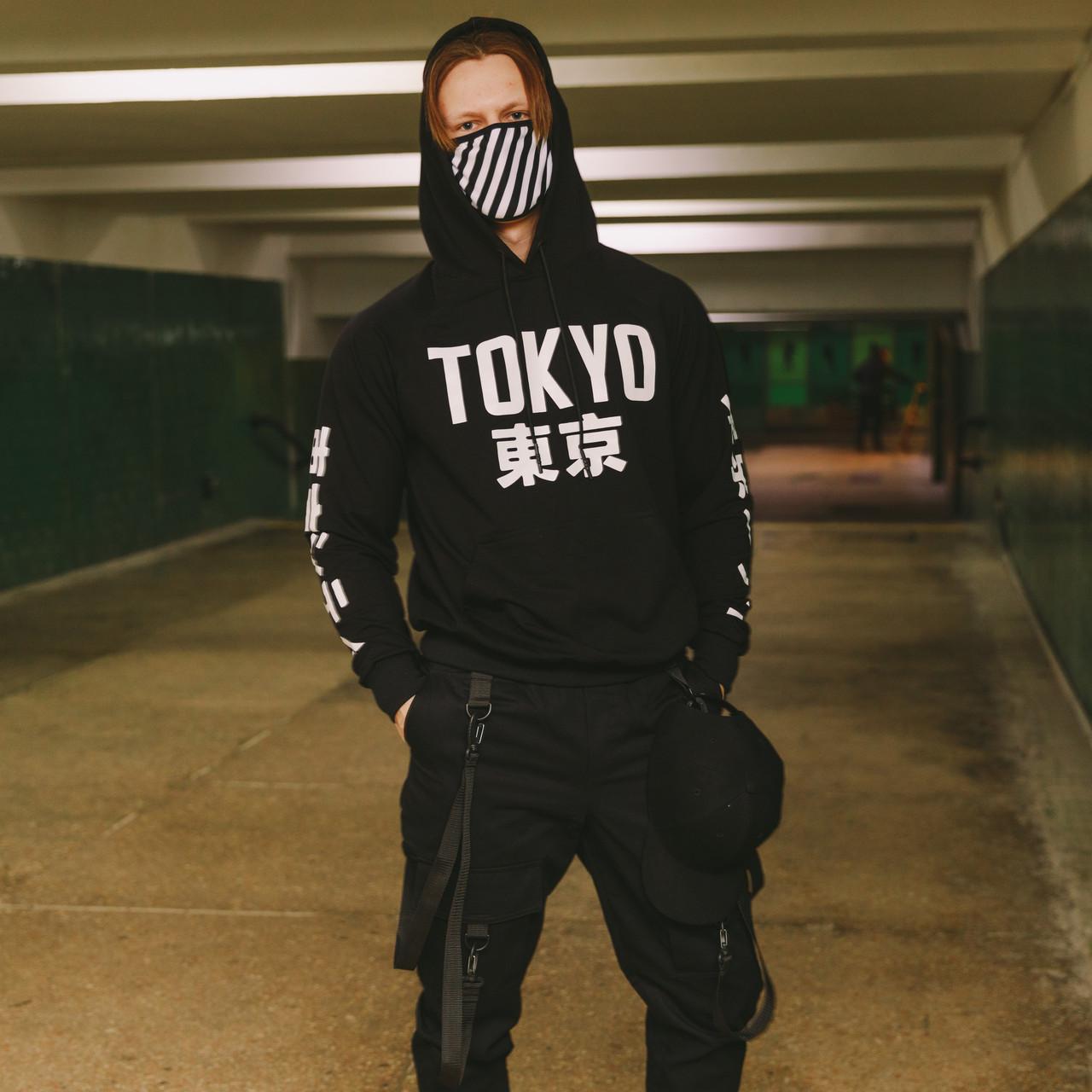 Худи чёрное мужское Токио