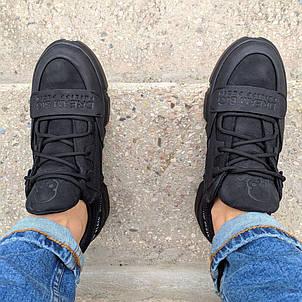 Кеды кожаные мужские черные Philipp Plein  DB размер 40, 41, 42, 43, 44, 45, фото 2