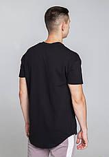 Футболка мужская черная удлиненная бренд ТУР  модель Фриман (Freeman) размер XS, S, M, L, XL, фото 3