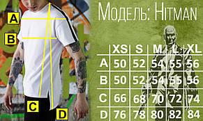 Футболка мужская белая удлиненная Хитман (Hitman) от бренда ТУР размер XS, S, M, L, XL, фото 2