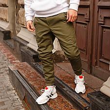 Зимние штаны карго на флисе мужские хаки бренд ТУР модель Грут (Groot), фото 2