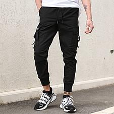 Штаны карго мужские черные бренд ТУР модель Фуджин, фото 2