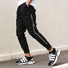 Штаны карго мужские черные бренд ТУР модель Фуджин, фото 3