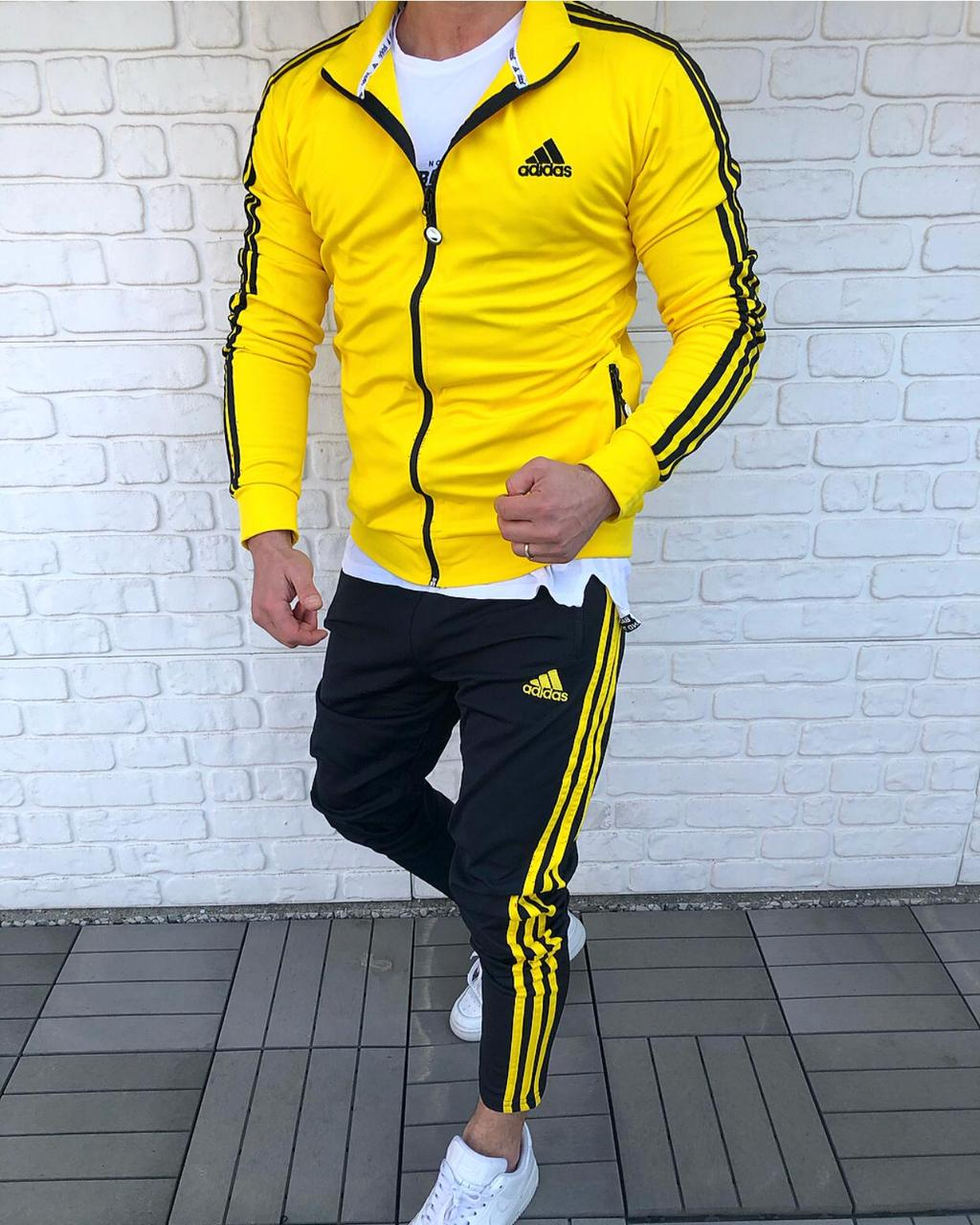 Спортивный костюм   желтый {S}