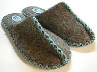 Женские эксклюзивные домашние тапочки из войлока с голубым шнурком