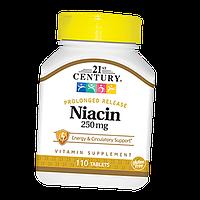 Витамины и минералы 21st Century Niacin 250 мг (110 таб)