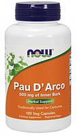 Антипаразитарные NOW Foods Pau D Arco 500 мг (100 капс) (107159) Фирменный товар!