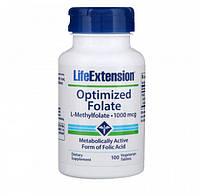 Оптимізований фолат Life Extension Optimized Folate 1000 мкг 100 таблеток (108595) Фірмовий товар!