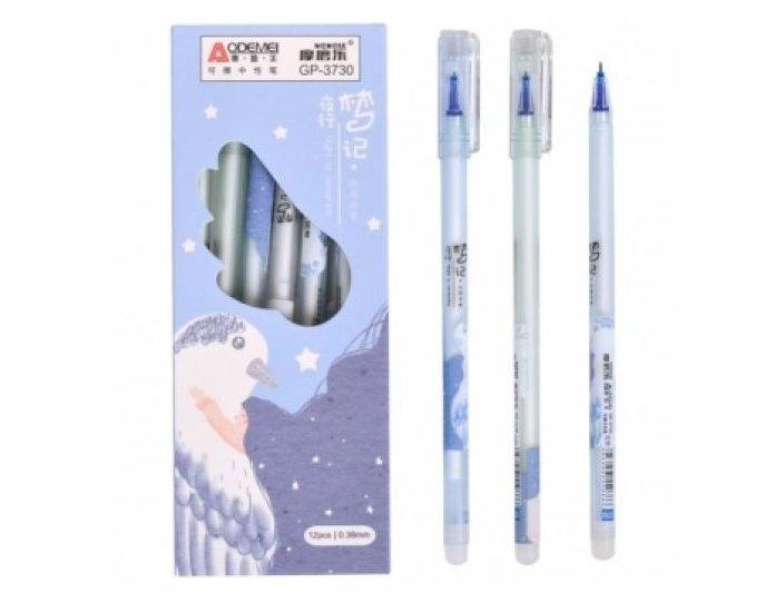 """Ручка GP-3730 """"пиши-стирай"""" гелевая син. 0,38мм. (12/144/1728)"""