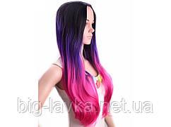 Парик из искусственных волос Feilimei  66 см  Розовый