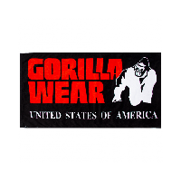 Фитнес-полотенце Gorilla Wear Classic Gym Towel Black/Red