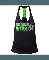 Майка Gorilla Wear Nashville Tank Top Black/Neon Lime