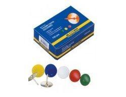 Кнопки Buromax цветные 100шт. ВМ.5104 (10/500)
