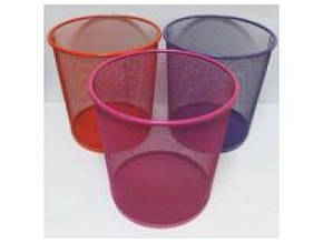 Корзина для мусора J.Otten металлич. кругл. большая цветная D26-D22х28см. IMG3693 (1983) (24)