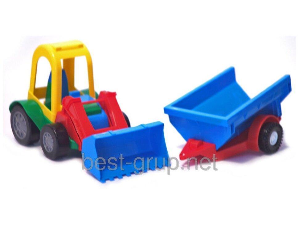 Трактор-багги с ковшом и прицепом 39229 (30)