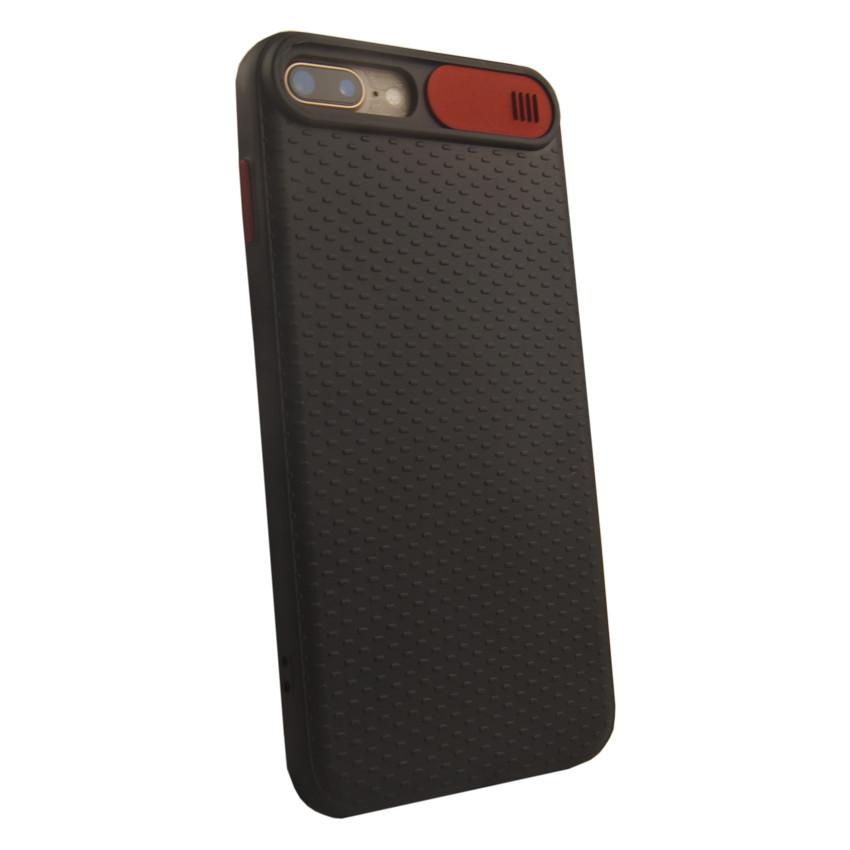 Чехол накладка Camshield TPU для iPhone 7 Plus/8 Plus Black/Red