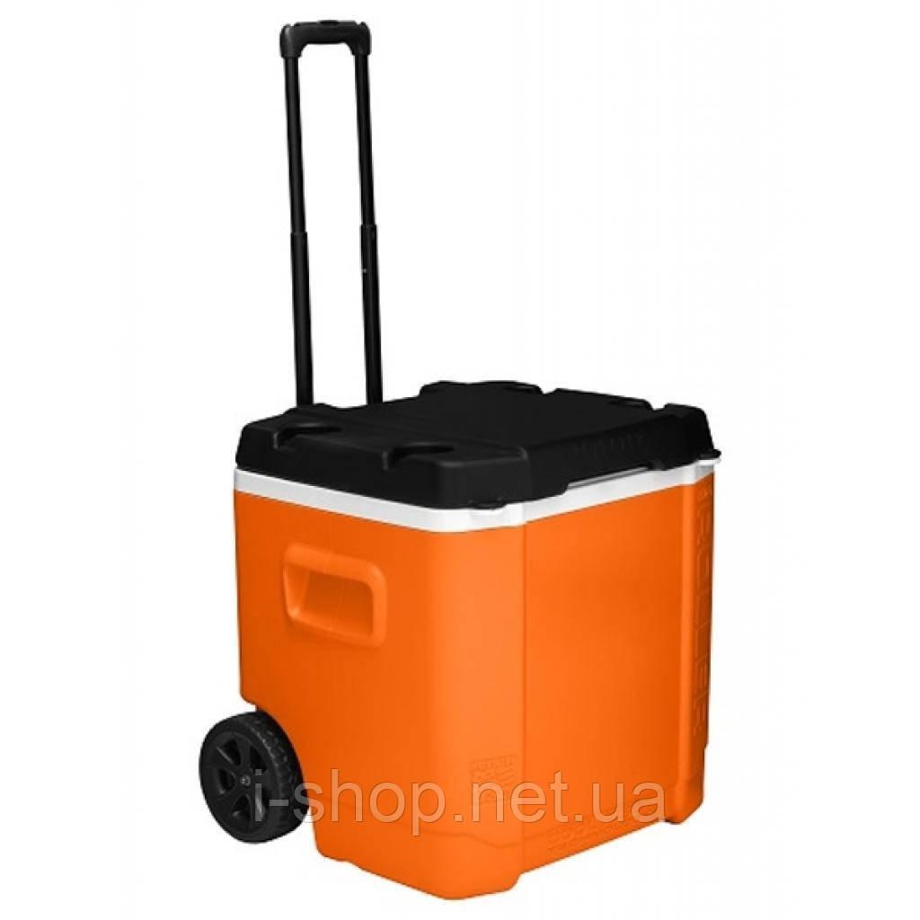 Изотермический контейнер на колесах TRANSFORMER ROLLER 60 л, оранжевый с черным