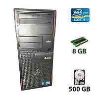 Fujitsu Esprimo P900 E85+ Tower / Intel Core i5-2400 (4 ядра по 3.1 - 3.4 GHz) / 8 GB DDR3 / 500 GB HDD / nVidia GeForce GTX 750 Ti 2GB GDDR5 128-bit