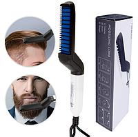 Быстрая щетка для выпрямления бороды и волос, мужской утюжок-выпрямитель, стайлер, фото 1