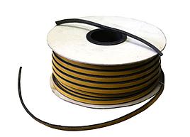 Шнур огнеупорный плоский самоклейка TSP/C-D 10х3 мм