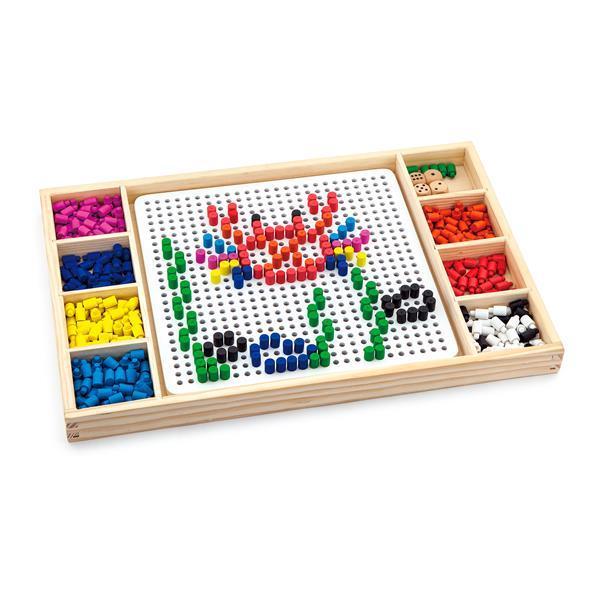 Настольная игра Viga Toys 2-в-1 Мозаика и лудо (59990)