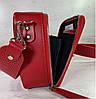 65-62р Натуральная кожа Сумка женская кросс-боди красная Кожаная сумка женская через плечо красная, фото 3