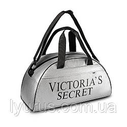 Спортивна фітнес-сумка Victoria's Secret для тренувань. Срібло. Кожзам