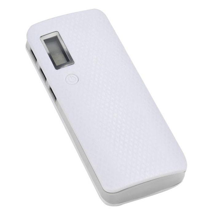 Повербанк пластиковый с дисплеем (без аккумуляторов 18650 х 5 шт), белый