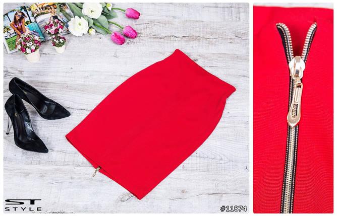 Женская красная юбка, фото 2
