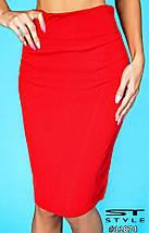 Женская красная юбка, фото 3