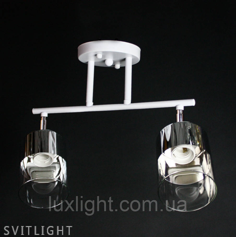 Люстра белая на 2 плафона 29-K076/2 WT/CR Svitlight