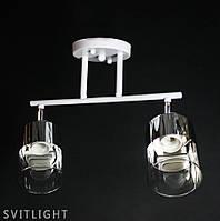 Люстра белая на 2 плафона 29-K076/2 WT/CR Svitlight, фото 1